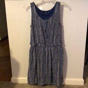 Madewell Silk Tank Dress In Blue Batik Stripe